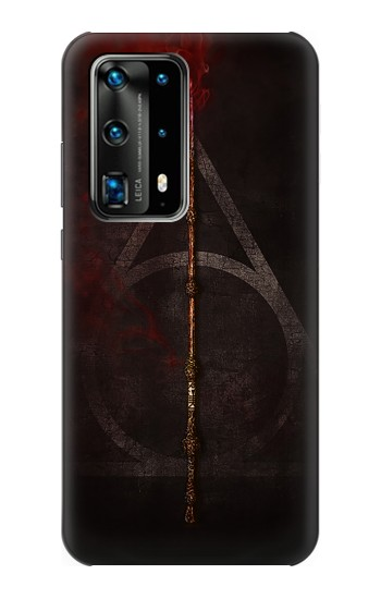Printed Deathly Hallows Magic Wand Red Huawei P40 Pro Case