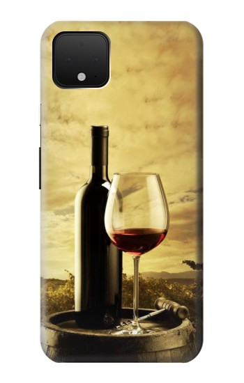 Printed A Grape Vineyard Grapes Bottle and Glass of Red Wine Google Pixel 4 XL Case