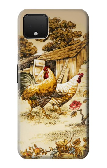 Printed French Country Chicken Google Pixel 4 XL Case
