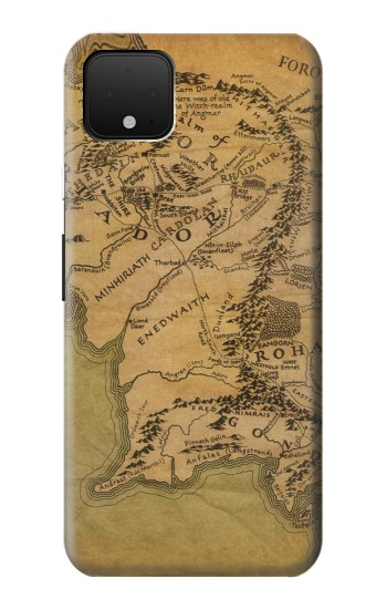 Printed The Lord Of The Rings Middle Earth Map Google Pixel 4 XL Case