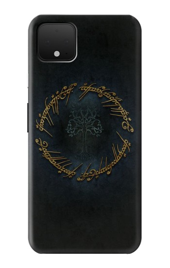 Printed Lord of The Rings Ring Elf Writing Google Pixel 4 XL Case