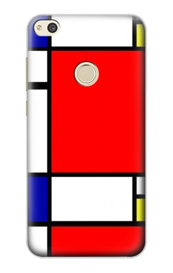 Printed Composition Red Blue Yellow alcatel Idol 2 Case