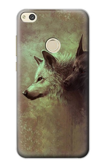 Printed White Black Wolf alcatel Idol 2 Case