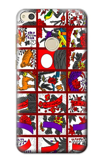 Huawei P8 Lite (2017) Hanafuda Japanese Flower Card Case Cover