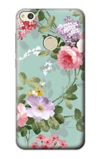 Huawei P8 Lite (2017) Flower Floral Art Painting Case Cover