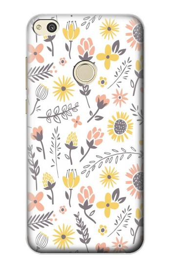 Printed Pastel Flowers Pattern alcatel Idol 2 Case