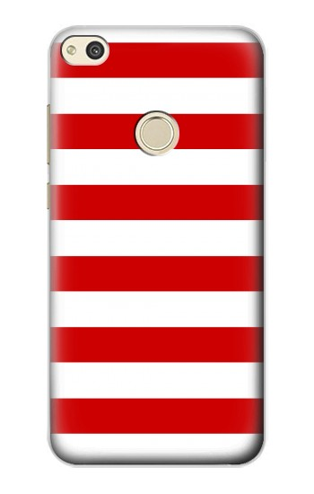 Printed Red and White Striped alcatel Idol 2 Case
