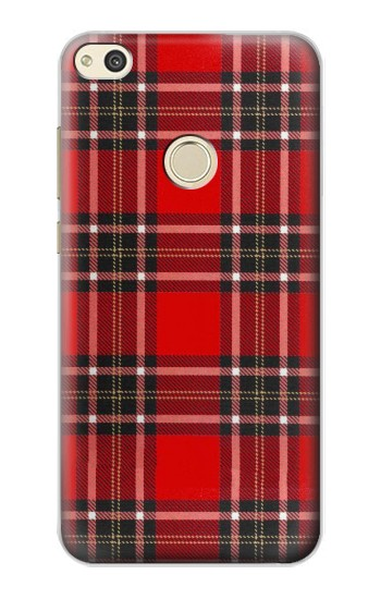 Huawei P8 Lite (2017) Tartan Red Pattern Case Cover