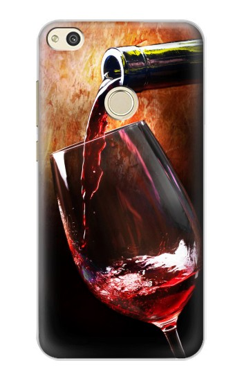 Printed Red Wine Bottle And Glass alcatel Idol 2 Case