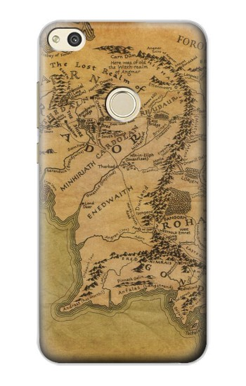 Printed The Lord Of The Rings Middle Earth Map alcatel Idol 2 Case