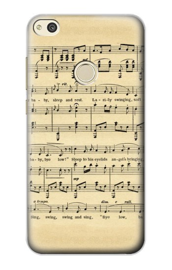 Printed Vintage Music Sheet alcatel Idol 2 Case