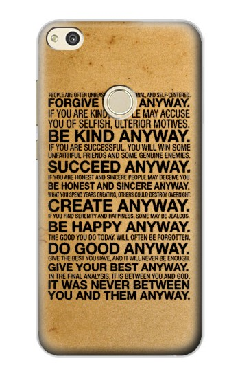 Printed Mother Teresa Anyway Quotes alcatel Idol 2 Case