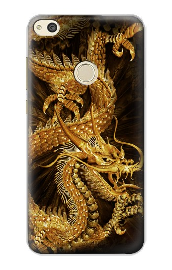 Huawei P8 Lite (2017) Chinese Gold Dragon Printed Case Cover