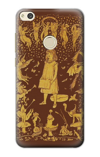 Printed Brown Fairy Book Cover alcatel Idol 2 Case