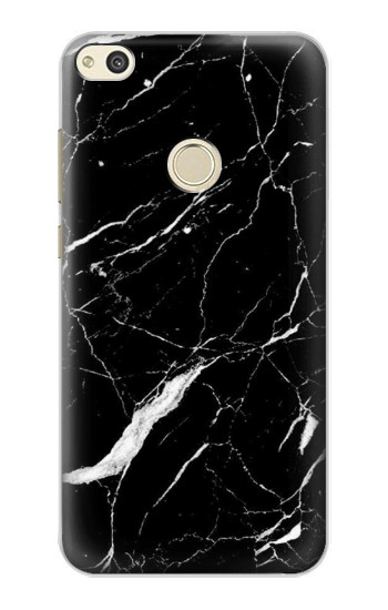 Huawei P8 Lite (2017) Black Marble Graphic Printed Case Cover