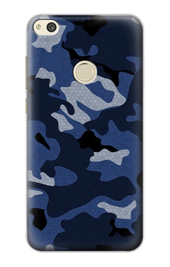 Huawei P8 Lite (2017) Navy Blue Camouflage Case Cover