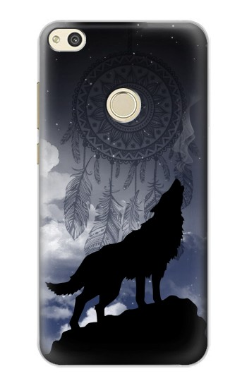 Printed Dream Catcher Wolf Howling alcatel Idol 2 Case