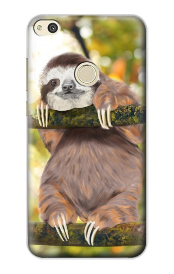 Printed Cute Baby Sloth Paint alcatel Idol 2 Case