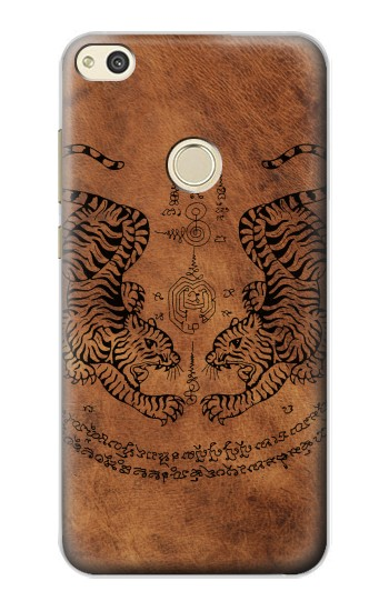 Huawei P8 Lite (2017) Sak Yant Twin Tiger Case Cover