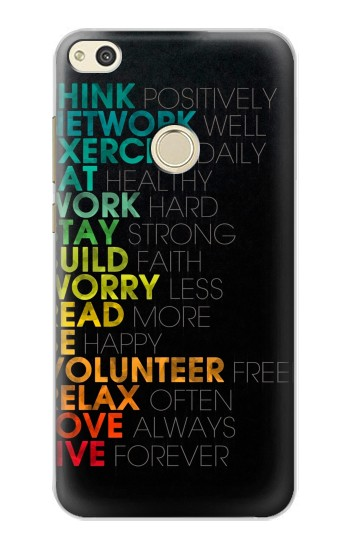 Printed Think Positive Words Quotes alcatel Idol 2 Case