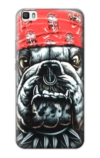 Printed Bulldog Punk Rock Huawei P8lite Case