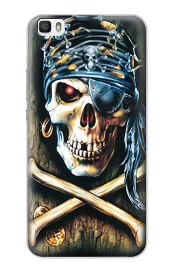 Printed Pirate Skull Punk Rock Huawei P8lite Case