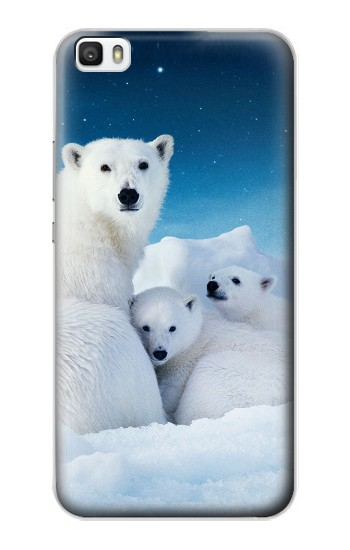 Printed Polar Bear Family Arctic Huawei P8lite Case