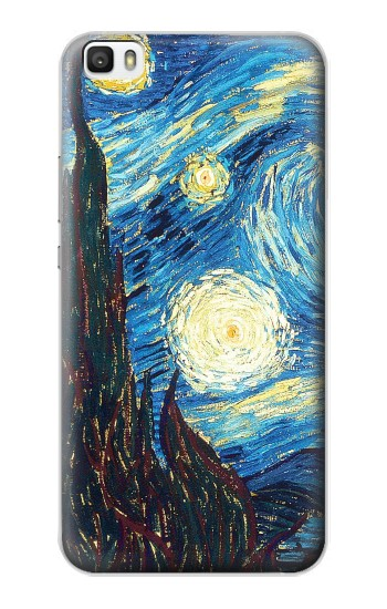 Printed Van Gogh Starry Nights Huawei P8lite Case