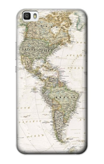 Printed World Map Huawei P8lite Case