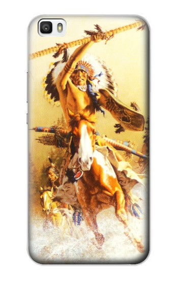 Printed Red Indian Warrior Huawei P8lite Case