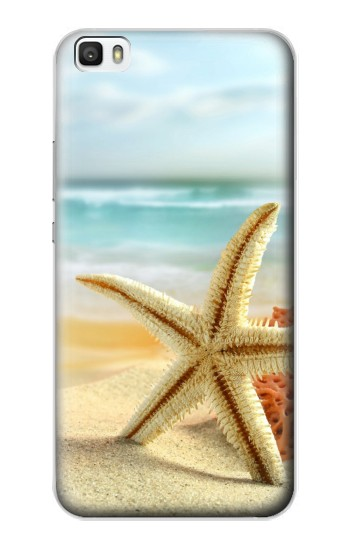 Printed Starfish on the Beach Huawei P8lite Case