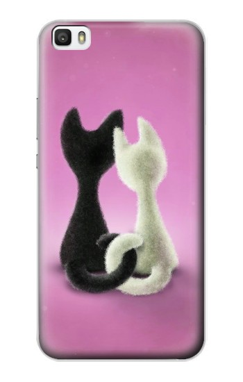 Printed Love Cat Huawei P8lite Case