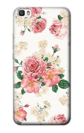 Printed Rose Pattern Huawei P8lite Case
