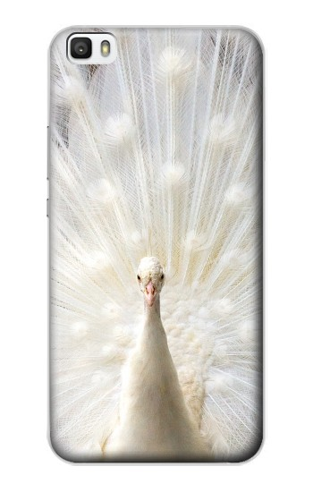 Printed White Peacock Huawei P8lite Case