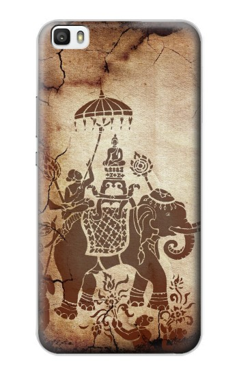 Printed Thai Art Buddha on Elephant Huawei P8lite Case