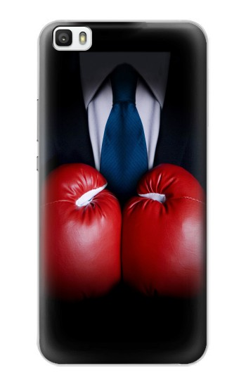 Printed Businessman In Black Suit With Boxing Gloves Huawei P8lite Case
