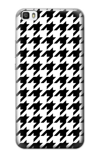 Printed Black White Houndstooth Monogram Pattern Huawei P8lite Case