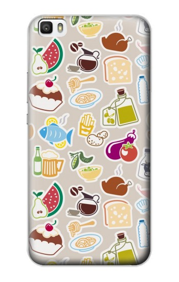 Printed Food and Drink Seamless Huawei P8lite Case