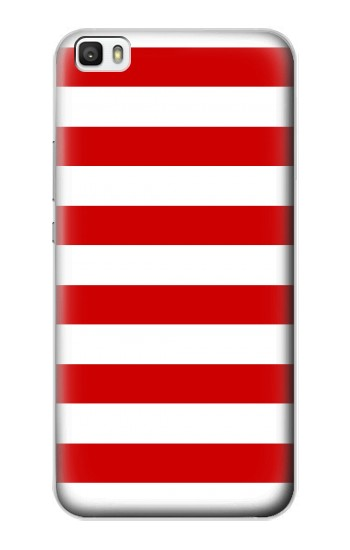 Printed Red and White Striped Huawei P8lite Case