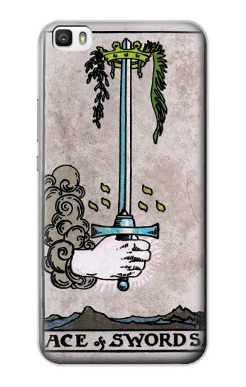 Printed Tarot Ace of Swords Huawei P8lite Case