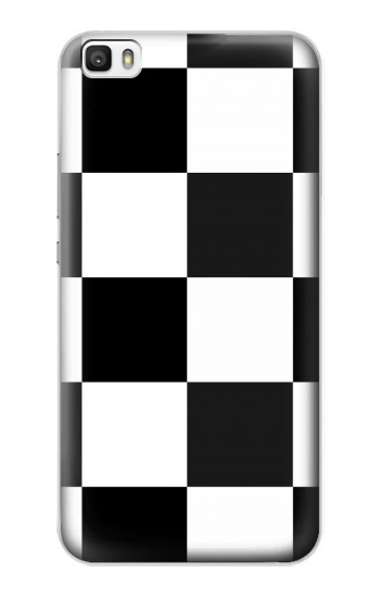Printed Black and White Checkerboard Huawei P8lite Case