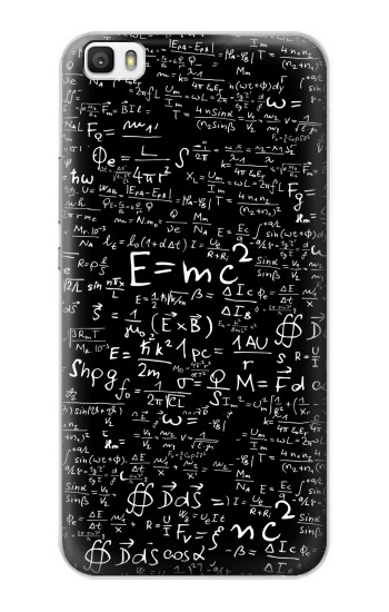 Printed Mathematics Physics Blackboard Equation Huawei P8lite Case
