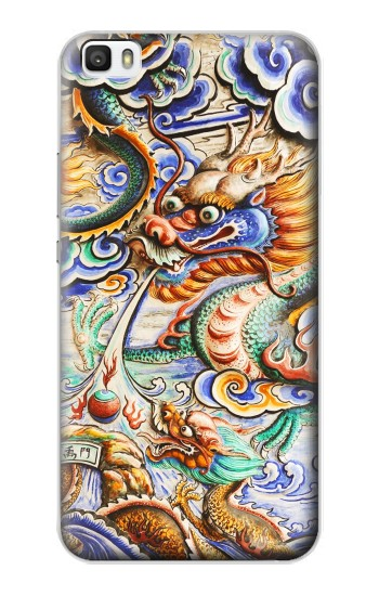 Printed Traditional Chinese Dragon Art Huawei P8lite Case