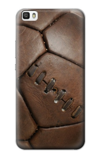 Printed Vintage Genuine Leather Soccer Football Huawei P8lite Case