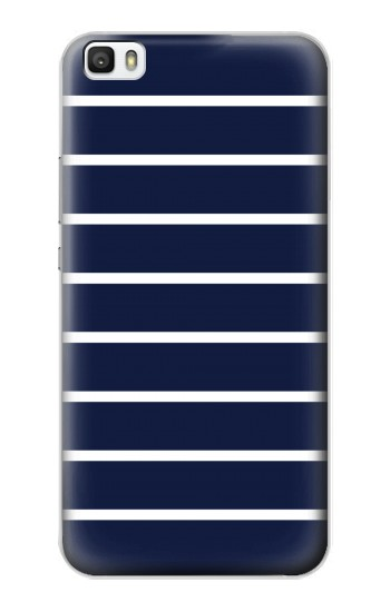 Printed Navy White Striped Huawei P8lite Case