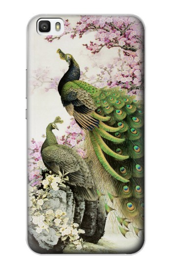 Printed Peacock Chinese Brush Painting Huawei P8lite Case
