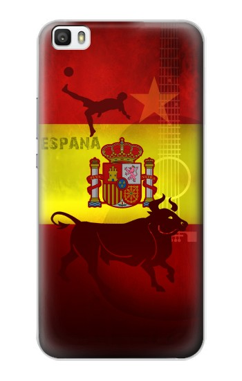 Printed Spain Football Flag Huawei P8lite Case