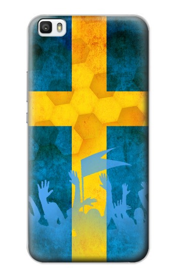 Printed Sweden Football Flag Huawei P8lite Case