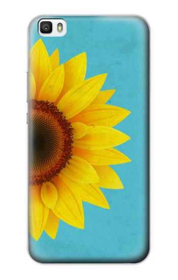Printed Vintage Sunflower Blue Huawei P8lite Case