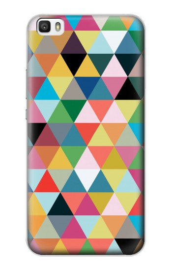 Printed Triangles Vibrant Colors Huawei P8lite Case
